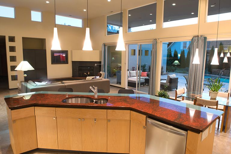 Kitchen Designer Portland Oregon Amusing Red Dragon Granite Create A Beautiful Island In This Modern Home Inspiration Design