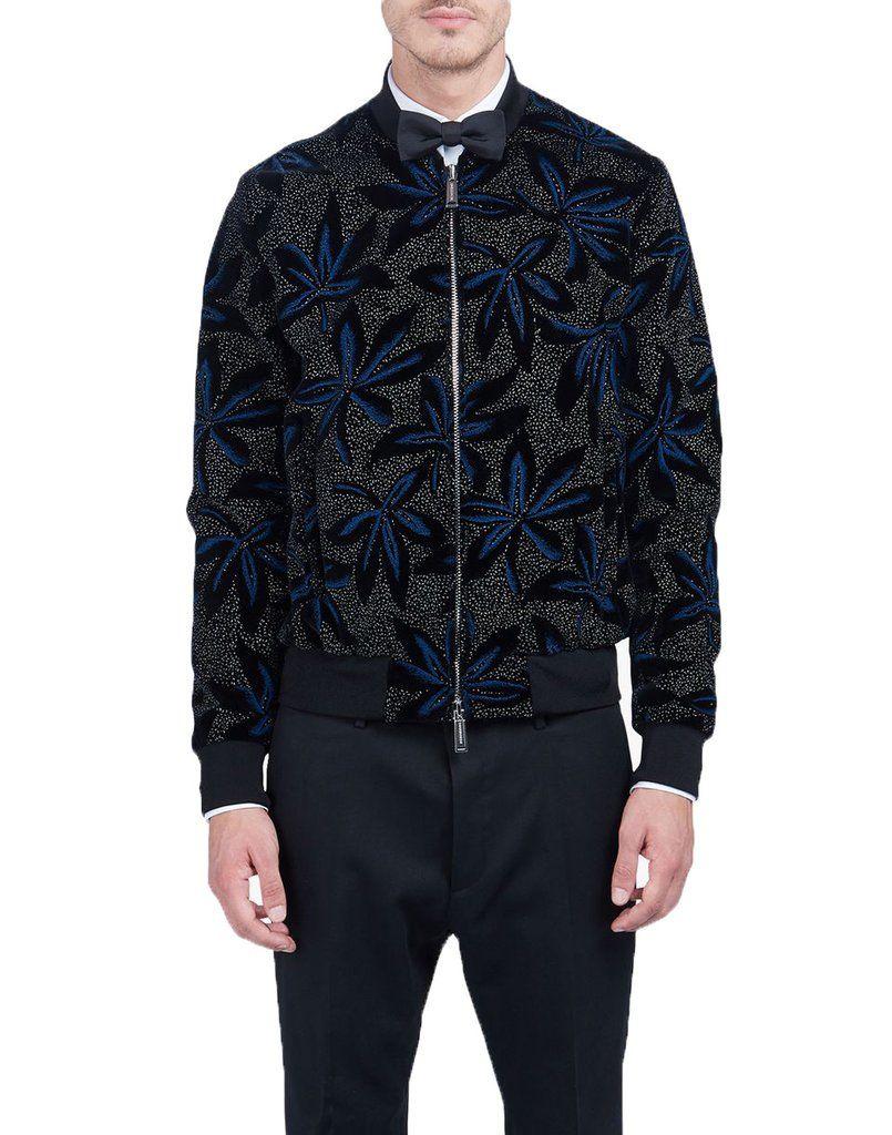 dsquared2 floral bomber jacket