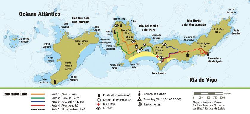 Isla De Ons Mapa.Mar De Ons Islas Cies Islas Viajes Isla Sur