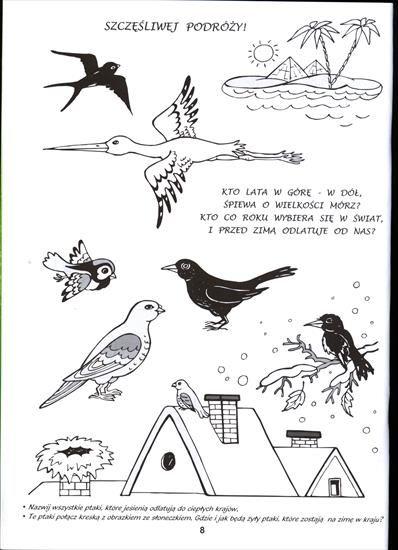 Jesien Karty Pracy Szczesliwej Podrozy Ptaki Jpg Ptaki