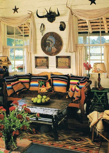 Dan Wants A Southwest Living Room One Thing I Will Put In The Design Serape Pillows