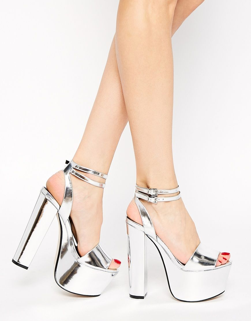 8687f314e02 Silver! Shoes Heels Boots