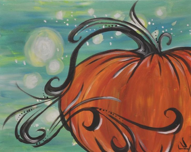 Image Result For Pumpkin Painting On Canvas