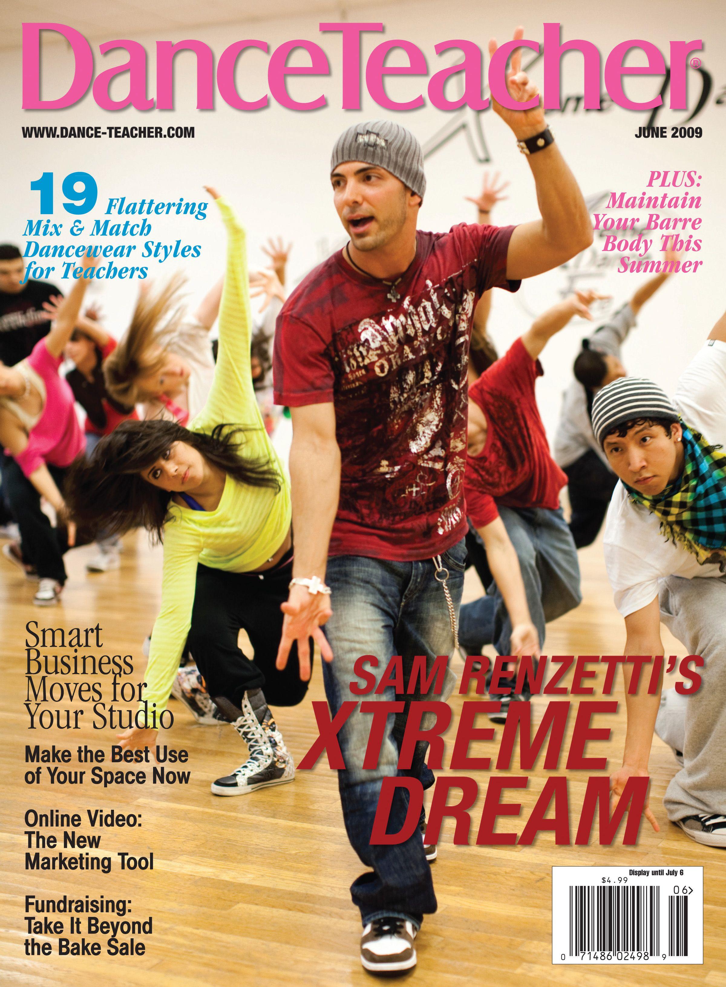 Sam Renzetti of Xreme Dance Center on Dance Teachers June 2009 cover Photo by Kristie Kahns