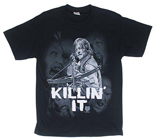 The Walking Dead Daryl Killin It Adult Mens Black T-shirt XL @ niftywarehouse.com #NiftyWarehouse #WalkingDead #Zombie #Zombies #TV
