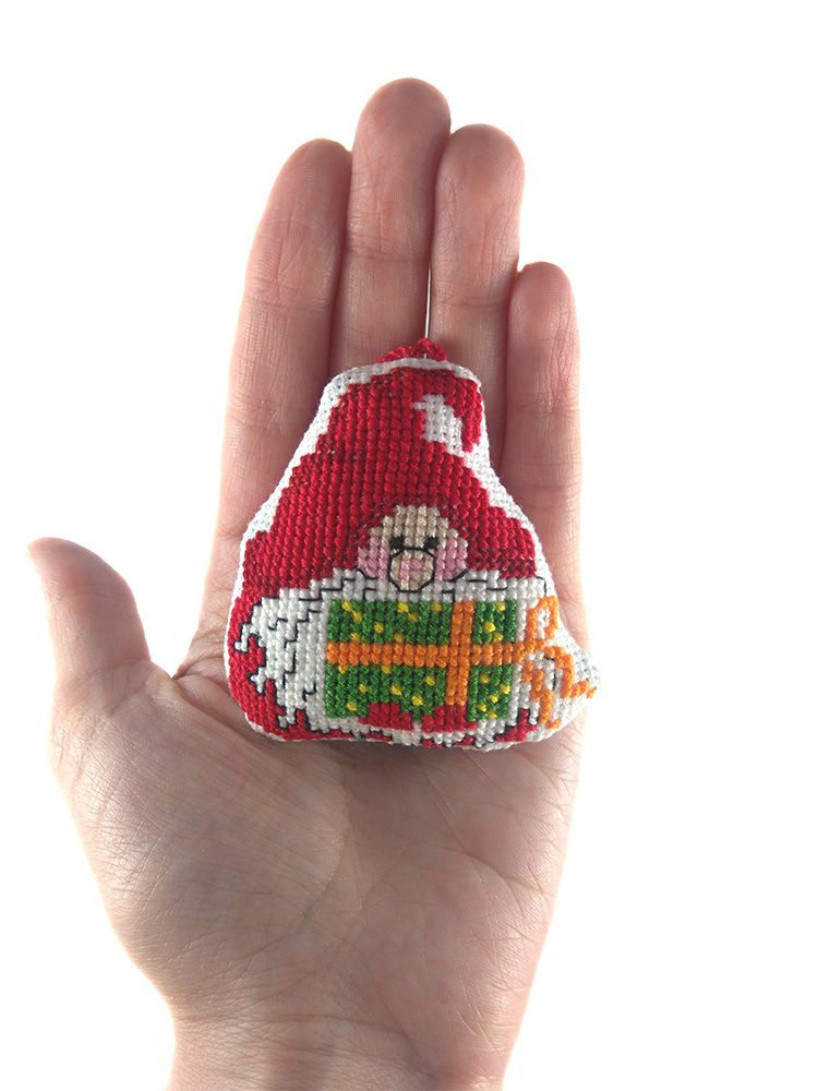 Embroidery gnome, hand embroidery, holiday decor, gnome toy, gnome cross stitch, padded gnome, christmas tree, christmas suspension, christmas decor, christmas ornaments, christmas decoration, christmas gnome, xmas ornaments