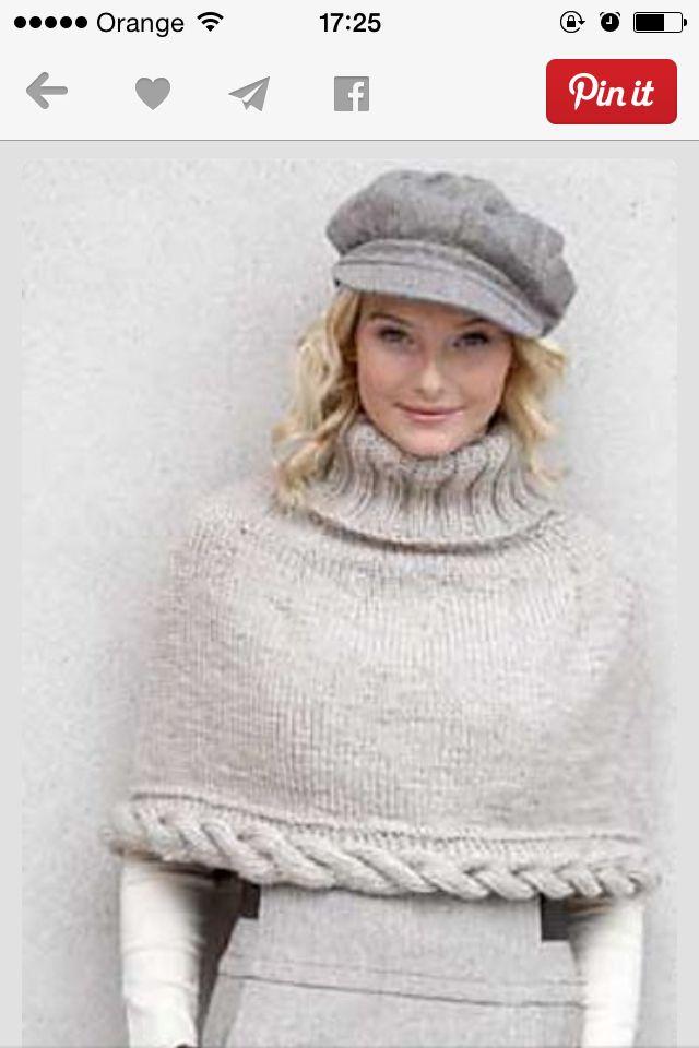 Sombrero y capa | cuelleras | Pinterest | Tejido, Ponchos y Capilla