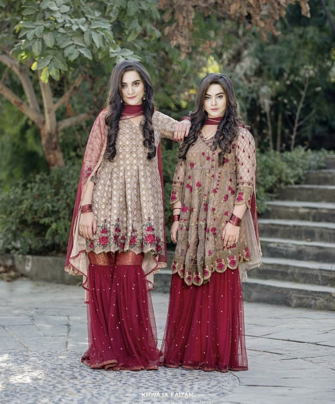 Maroon Gharara With Earthy Shade Shirt Pakistani Fancy Dresses Pakistani Bridal Dresses Pakistani Dresses,Wedding Dresses 2020 Simple