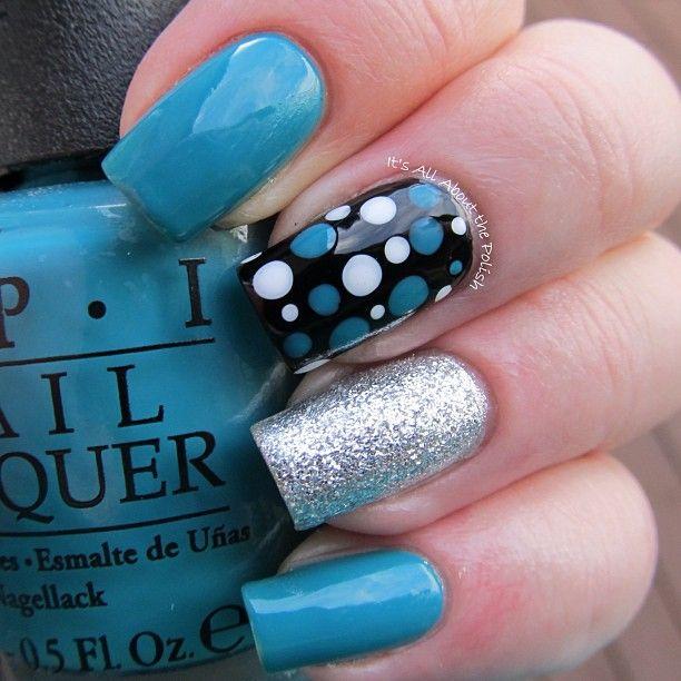 Uas Color Azul Blue Nails Uas Pinterest Nail Nail Blue