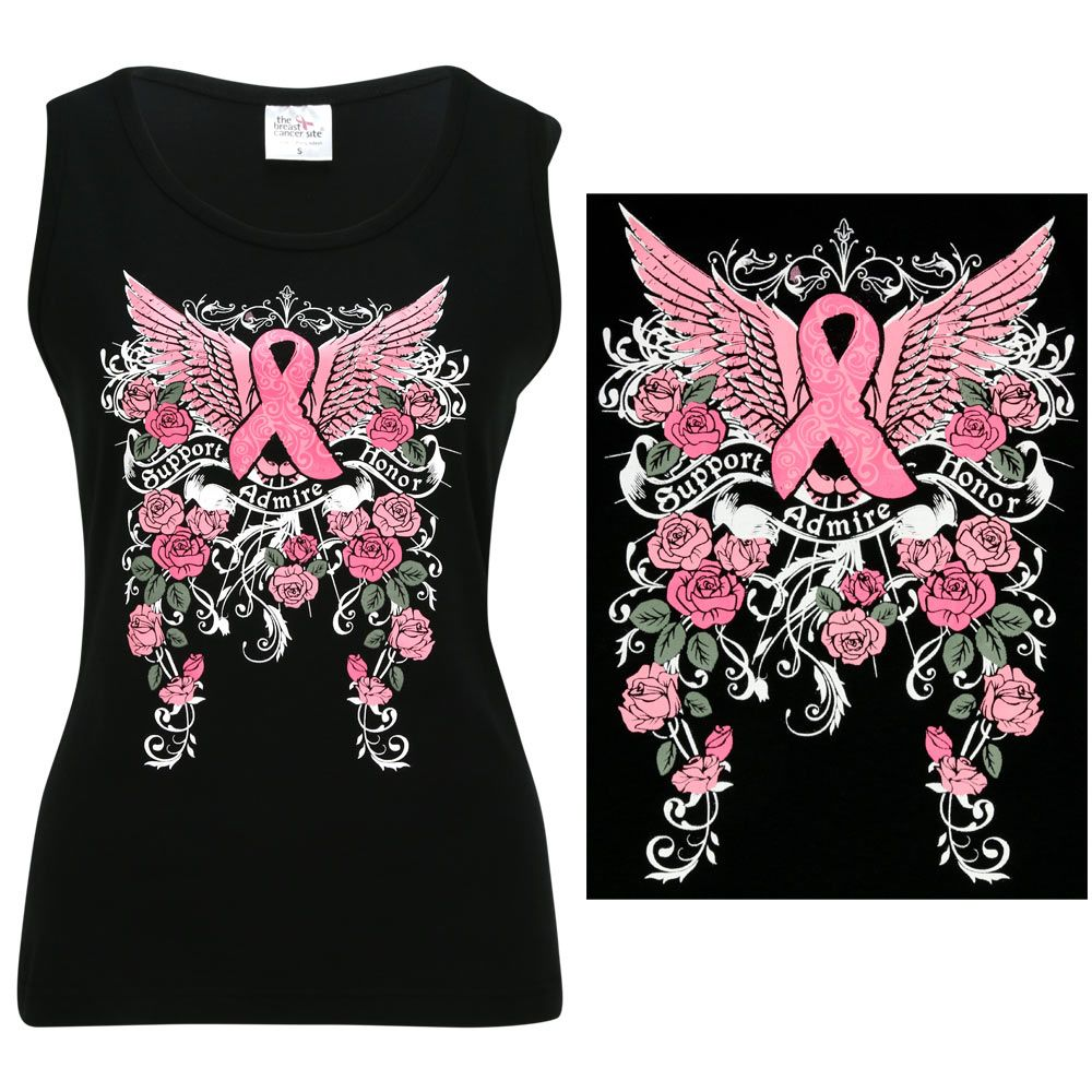 547ebcc5 Support Admire Honor Winged Pink Ribbon Tank Top at The Animal Rescue Site