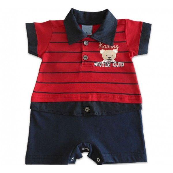 c255df99e Macacão de Verão Para Bebê Urso Marinheiro