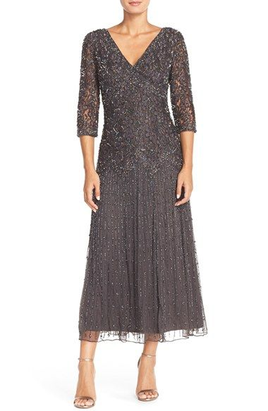 daabd8a37e6 What do you think of the color  The back may be a little low. Pisarro  Nights Beaded Mesh Drop Waist Dress (Regular   Petite) available at   Nordstrom
