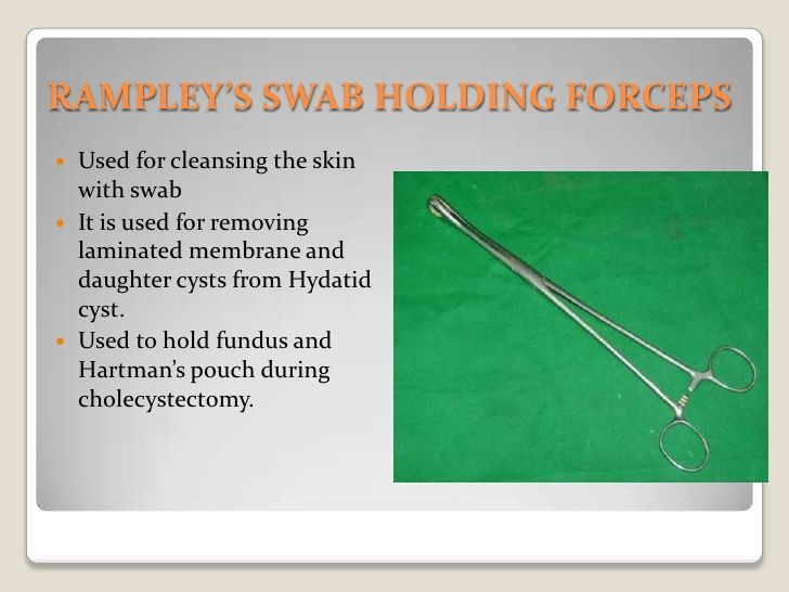 RampleyS Swab Holding ForcepsBr Used For Cleansing The Skin