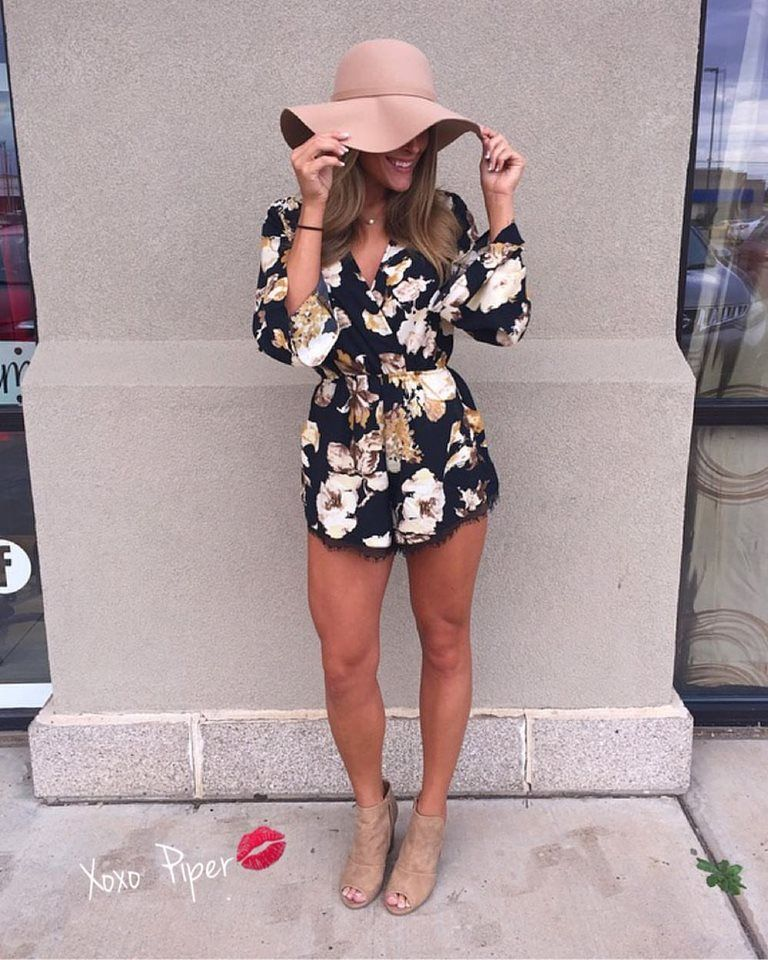 50 Stylish Romper Outfit Ideas For Your Younger Look in Spring ... 822e118e2a08