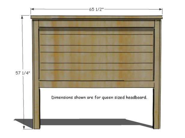 How To Build A Rustic Wood Headboard With Images Diy Headboard