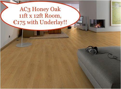 Classic Honey Oak Laminate Wood Flooring 11ft X 12ft Room Just 175 Including Underlay