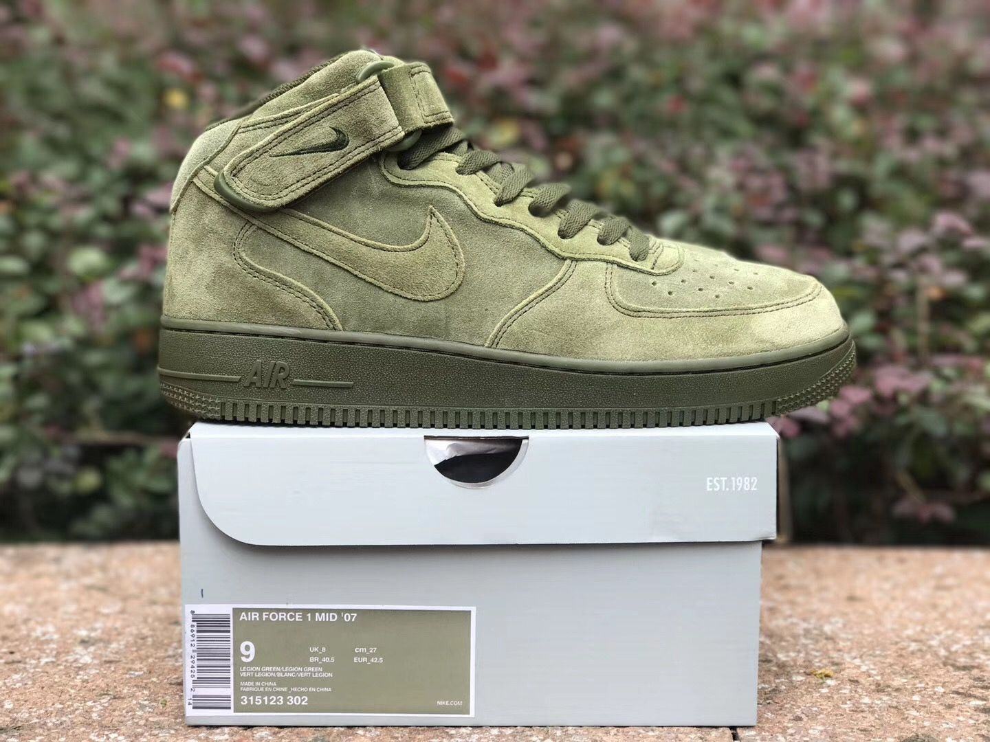 Free Shipping Nike Air Force 1 Mid Legion Green 315123 302