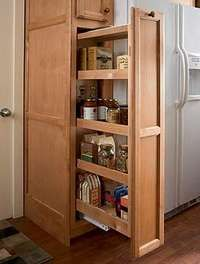 Slide Out Pantry   Would Love To Do This...a Narrower, Functional Pantry    Making Room For A Wider Fridge.