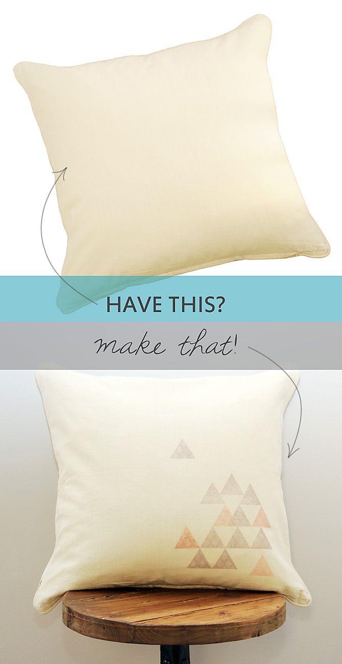 Make graphic pillow i diy u tips pinterest graphics gray
