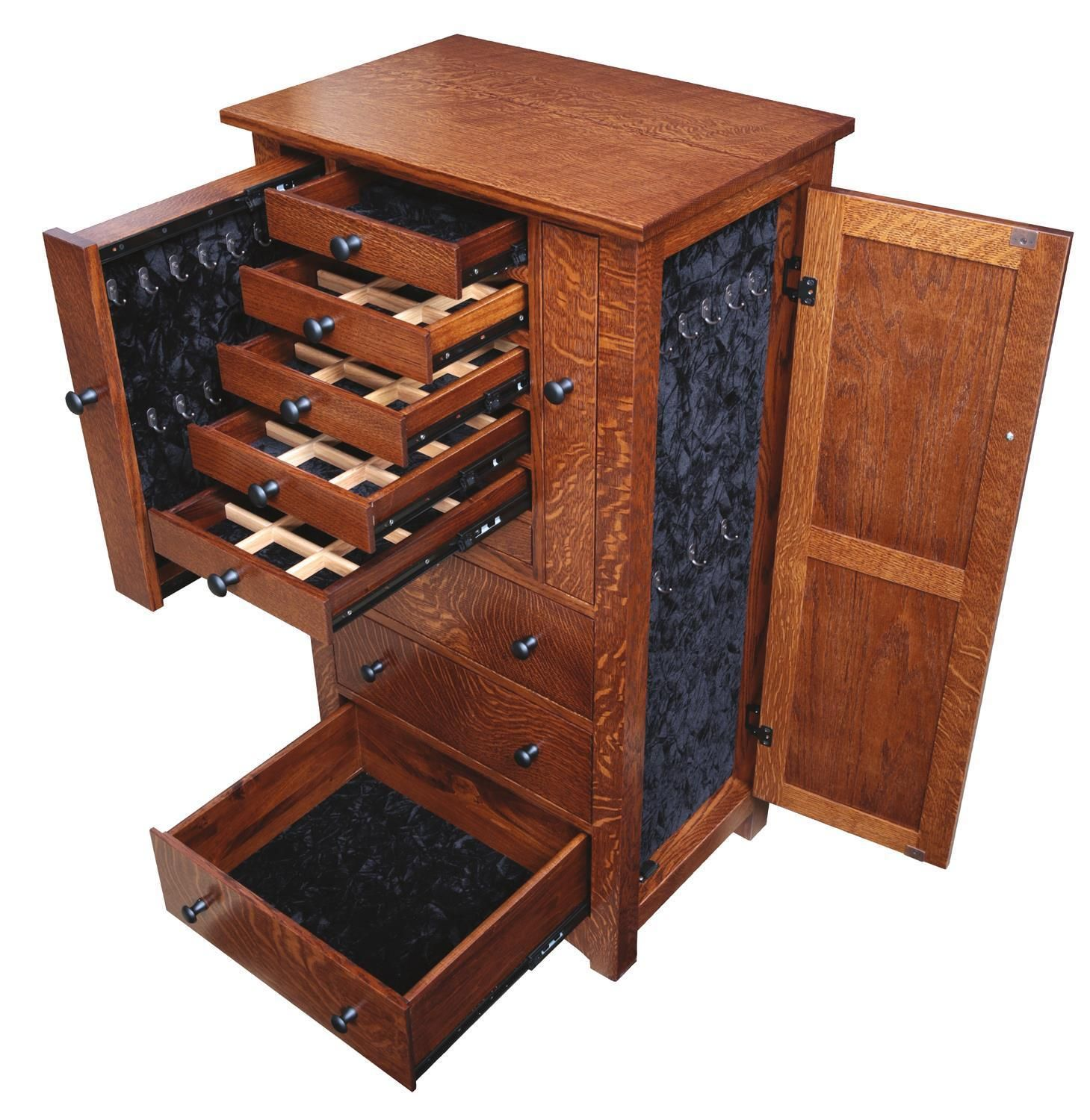 amish 48 deluxe flush mission jewelry armoire with pull out doors rh pinterest com