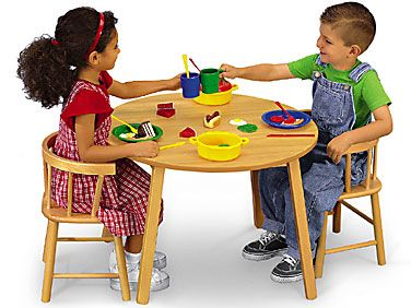 Butcher Block Table And Chair Set At Lakeshore Learning Butcher