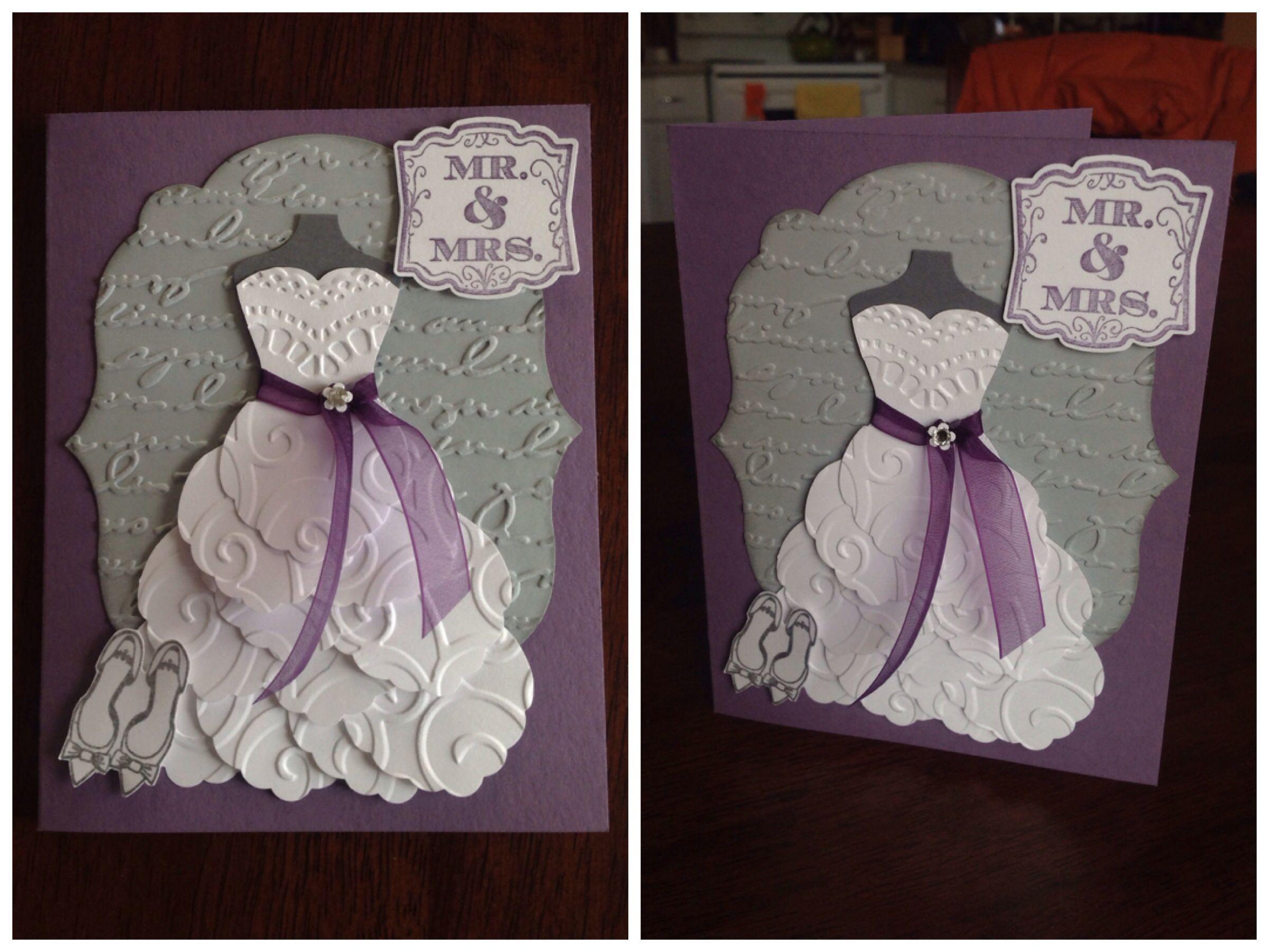 #megzycards Stampin' Up Dress Up Framelit Card, Bridal
