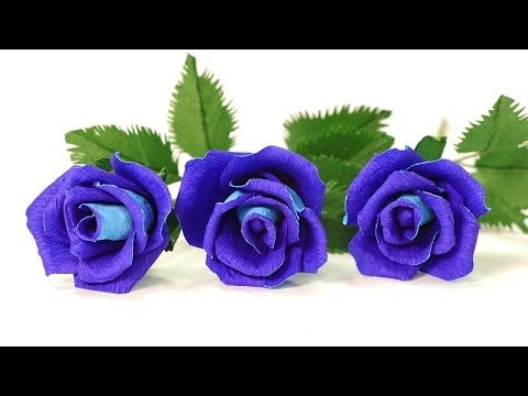 How To Make Rose Crepe Paper Flowers Crepe Paper Craft Flowers
