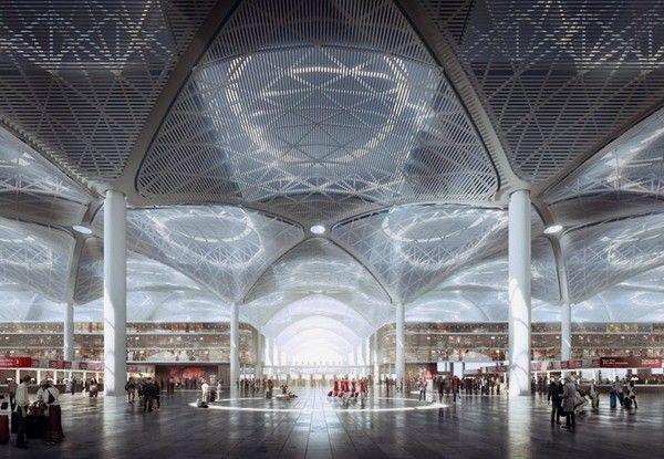 Novyj Aeroport Stambula Vozdushnaya Stolica Zemli Istochnik Foto Mir No Istanbul New Airport Concept Architecture Airport Design