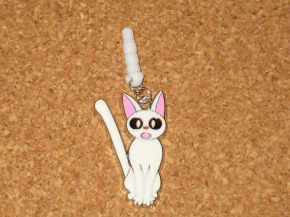 Luna Cat Cell Phone Dust Plug Charm Attached, $3 at etsy.com | Dust plug, Phone charm, Plugs