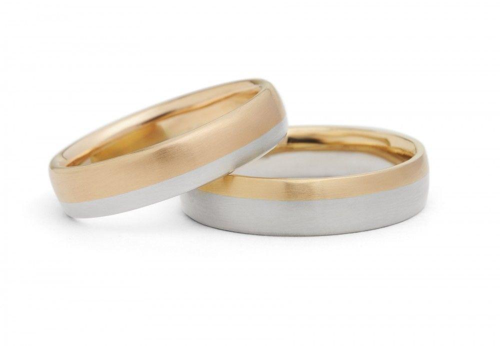 Men S Rose And White Gold Mixed Metal Wedding Bands Wedding Rings