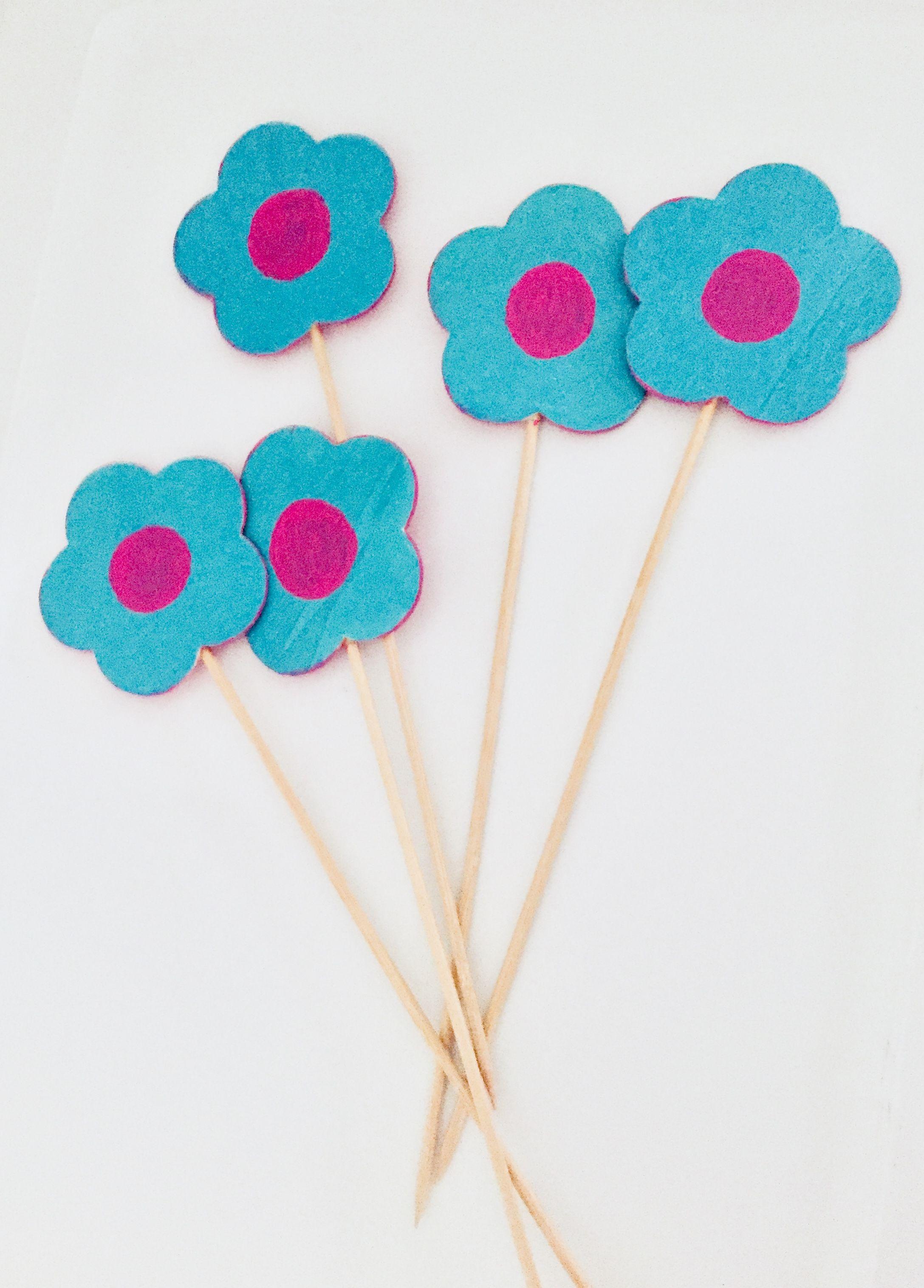 Hand Paint Wood Flowers Diy By Yani Believeinhope