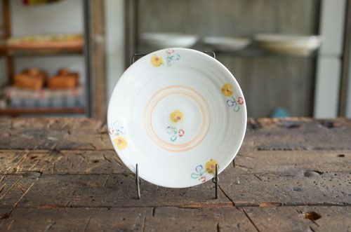 色絵六寸皿 黄 伊藤聡信 - ENIGME 金沢市のアンティークと器の店 エニグム