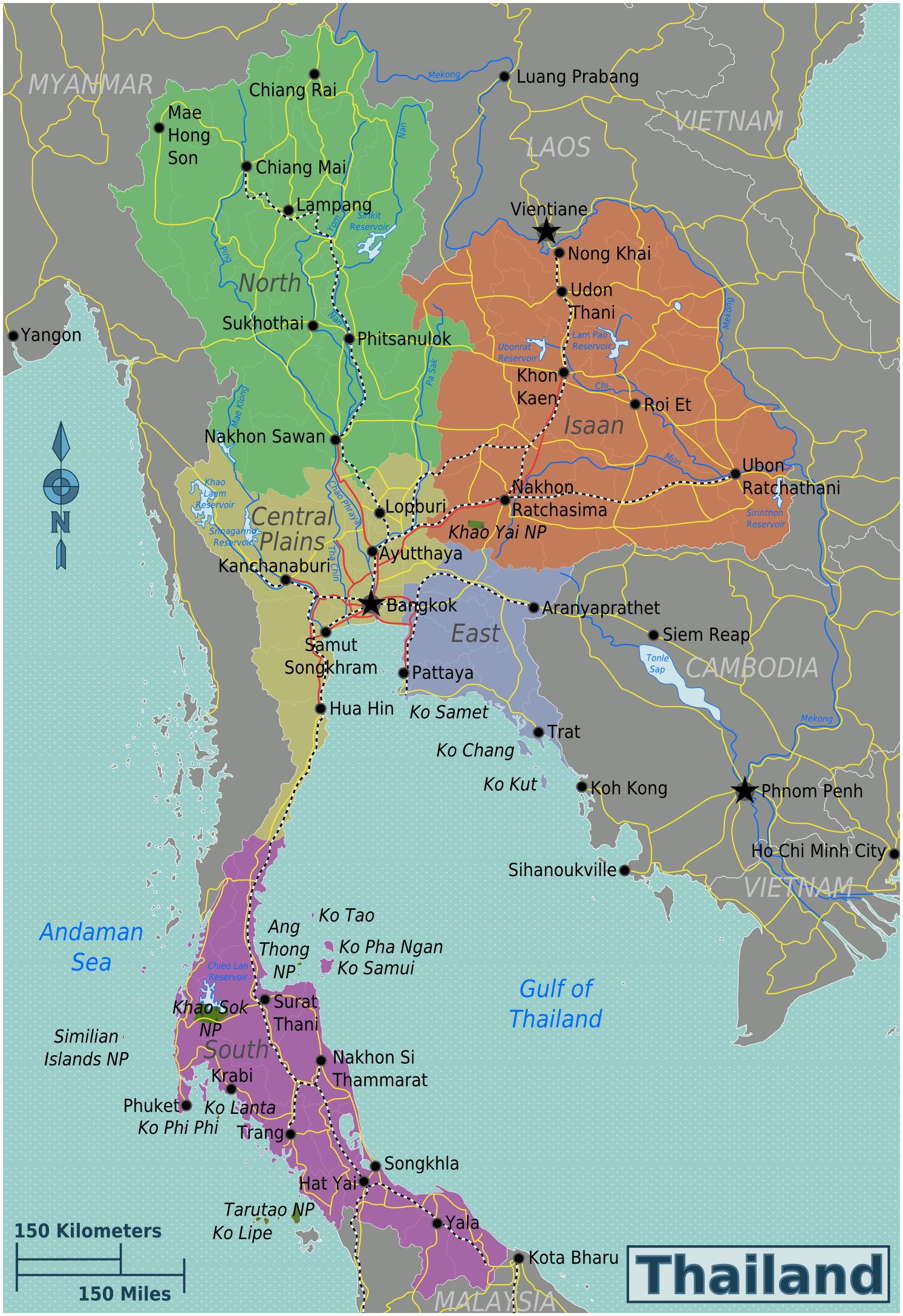 karte thailand Karte Thailand regionen | Thailand in 2019 | Thailand tourism