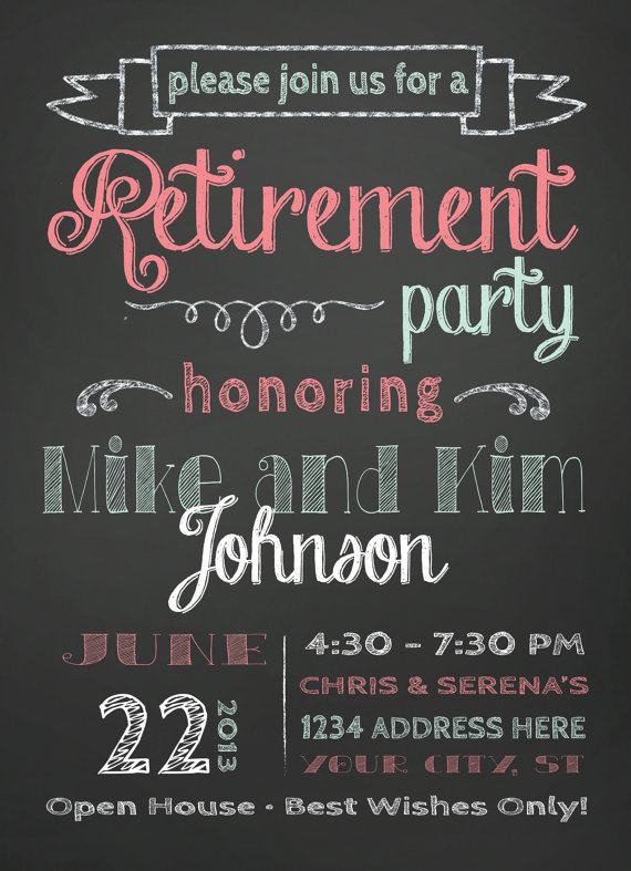 Retirement Party Invitation  Retirement Parties Retirement And