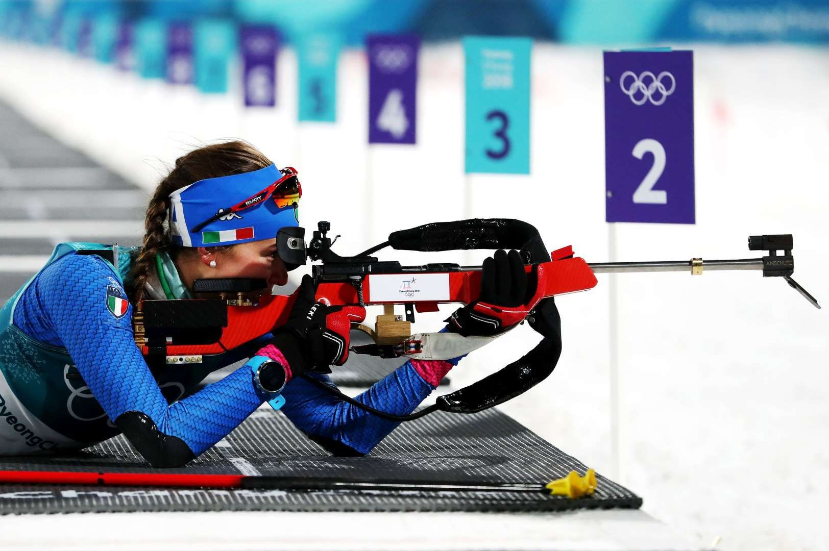 Biathlon At The 2020 Olympic Winter Games.2018 Winter Olympics Nicole Gontier Of Italy Competes