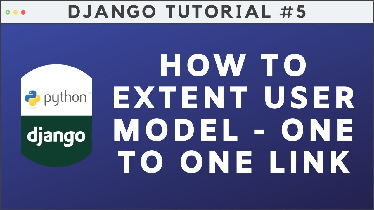 How To Extent User Model In Django One To One Link Field Computer Science Projects Relationship Management Customer Relationship Management