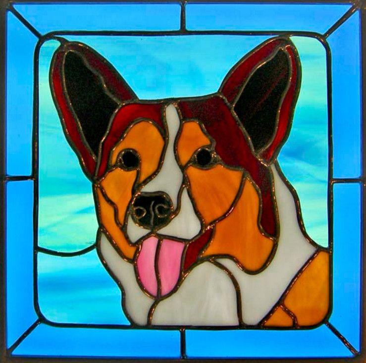 картинки собак витраж