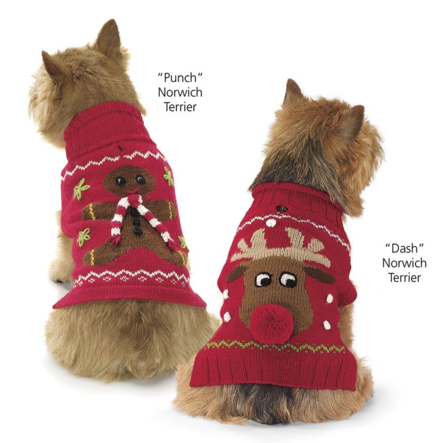 Alpaca Reindeer Sweater Christmas Sweater Dog Gifts Dog Clothes Dog Holiday