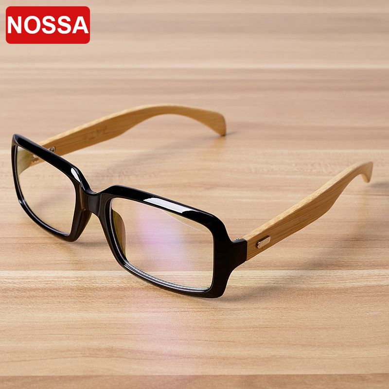 03f54df109 NOSSA Quality Handmade Bamboo Glasses Frame Women Men Retro Myopia  Prescription Eyewear Frames Wooden Eyeglasses Goggles