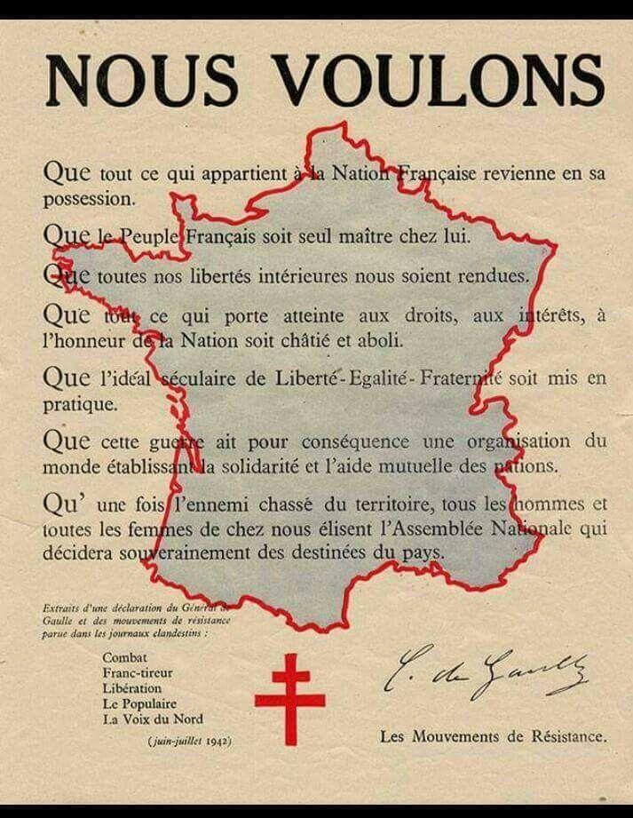Affiche des mouvements de Résistance en France juin/juillet 1942   Affiche, Affiche propagande ...