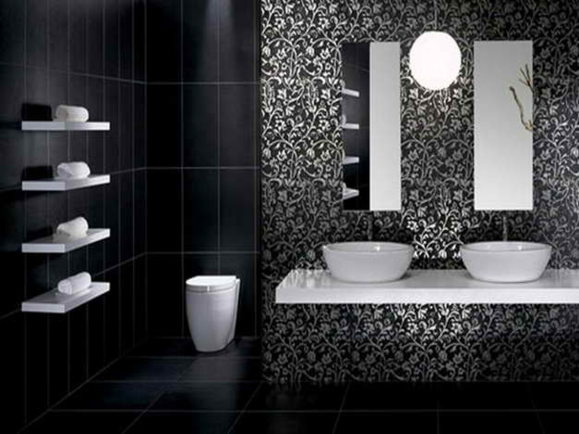 Delightful Black Tiles In Bathroom Ideas Part - 4: Latest Posts Under: Bathroom Tile Gallery