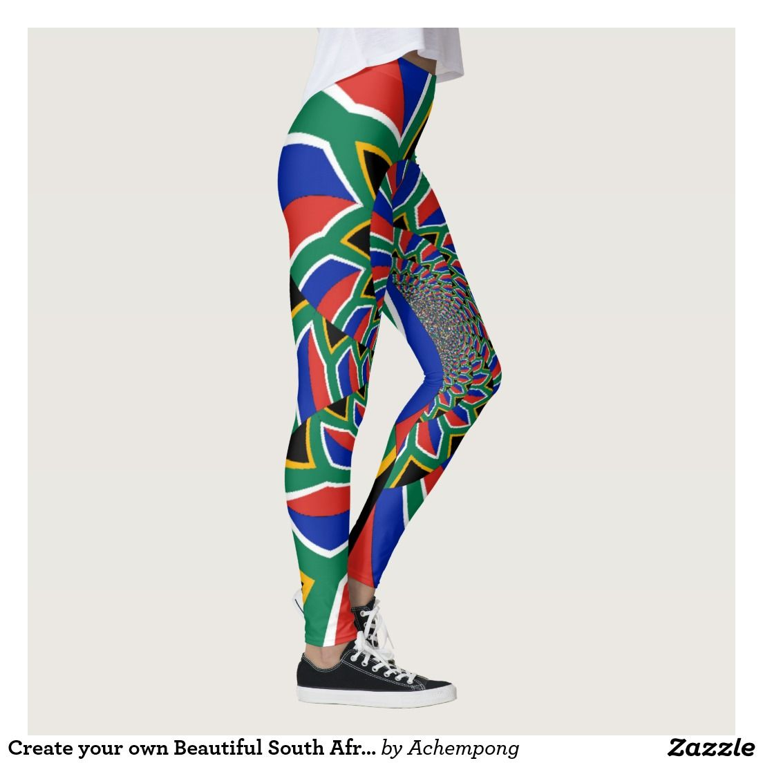 Create Your Own Beautiful South Africa Flag Leggings