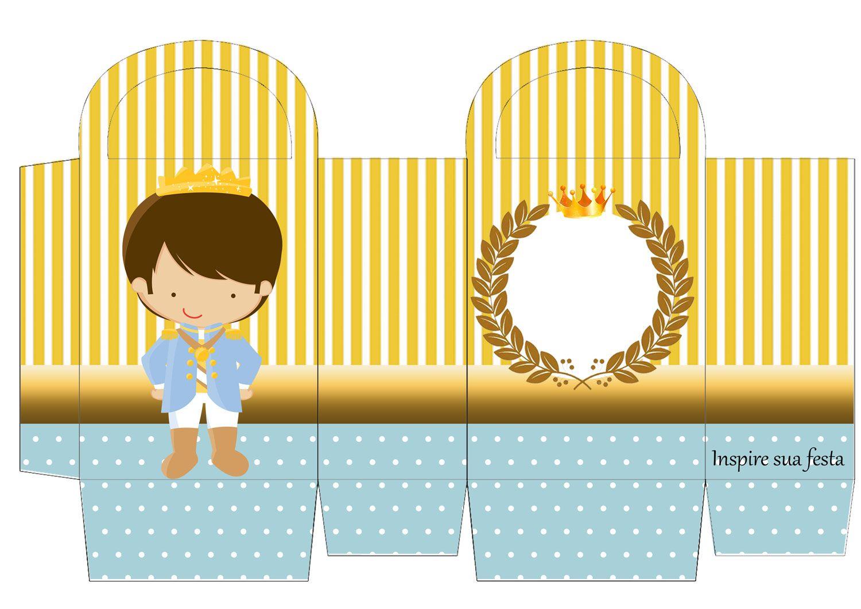 Rei Azul E Dourado Kit Digital Gratuito Convite Pequeno