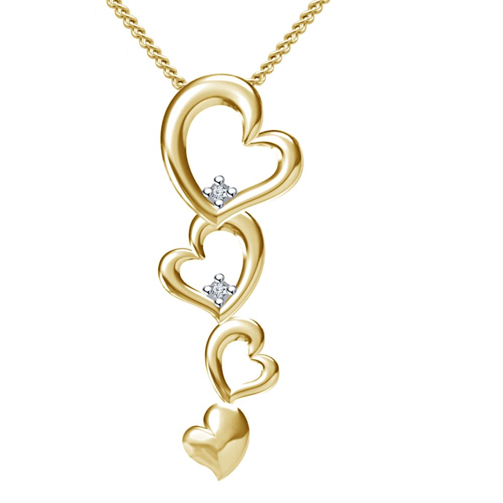 Gold Chain Pendant Design Buy vorra fashion new design heart ...