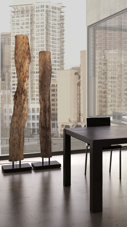 Floor standing lamp / original design / in wood - OLD TIMES 1 by ...