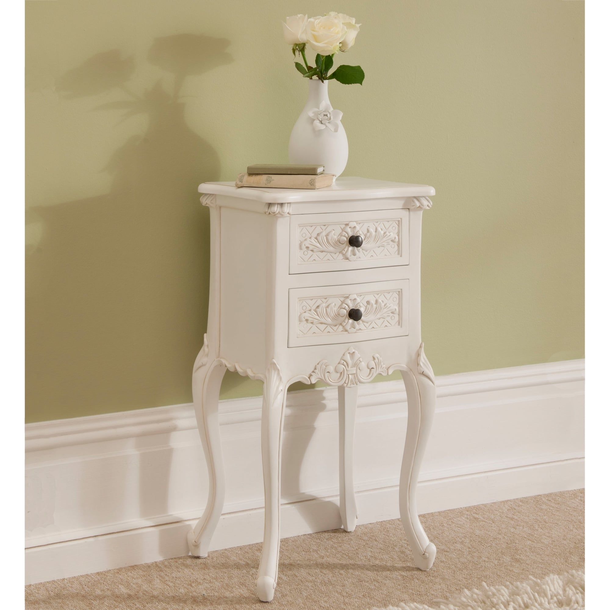 Rococo Shabby Chic Antique Style Bedside Table Similar To