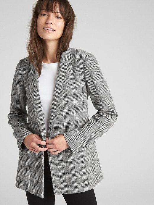 82ec44e20657 Classic Plaid Girlfriend Blazer in 2019   Products   Plaid blazer ...
