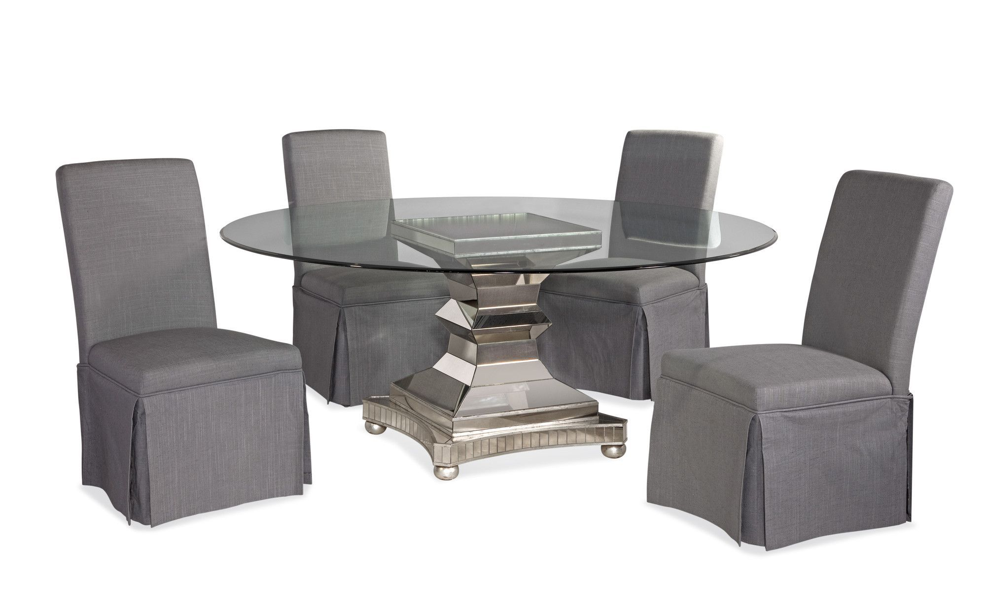 Hollywood Glam 6 Piece Moiselle Casual Dining Set Dining Room Sets 5 Piece Dining Set Dining Set