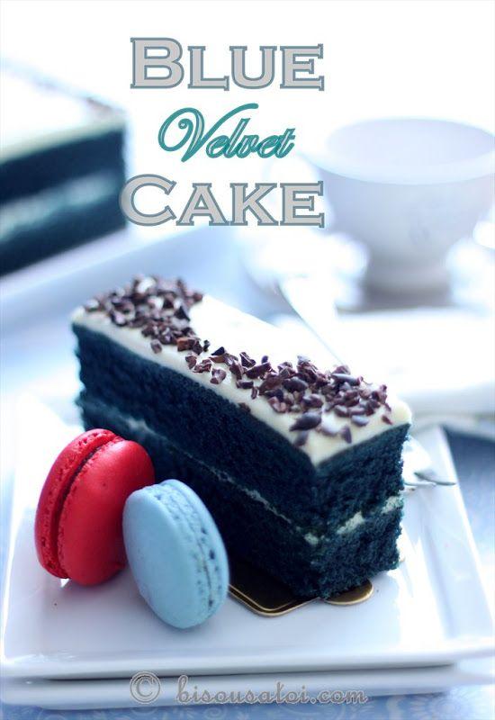 Bisous Toi Blue Velvet Cake Baked Cakes Pinterest Blue