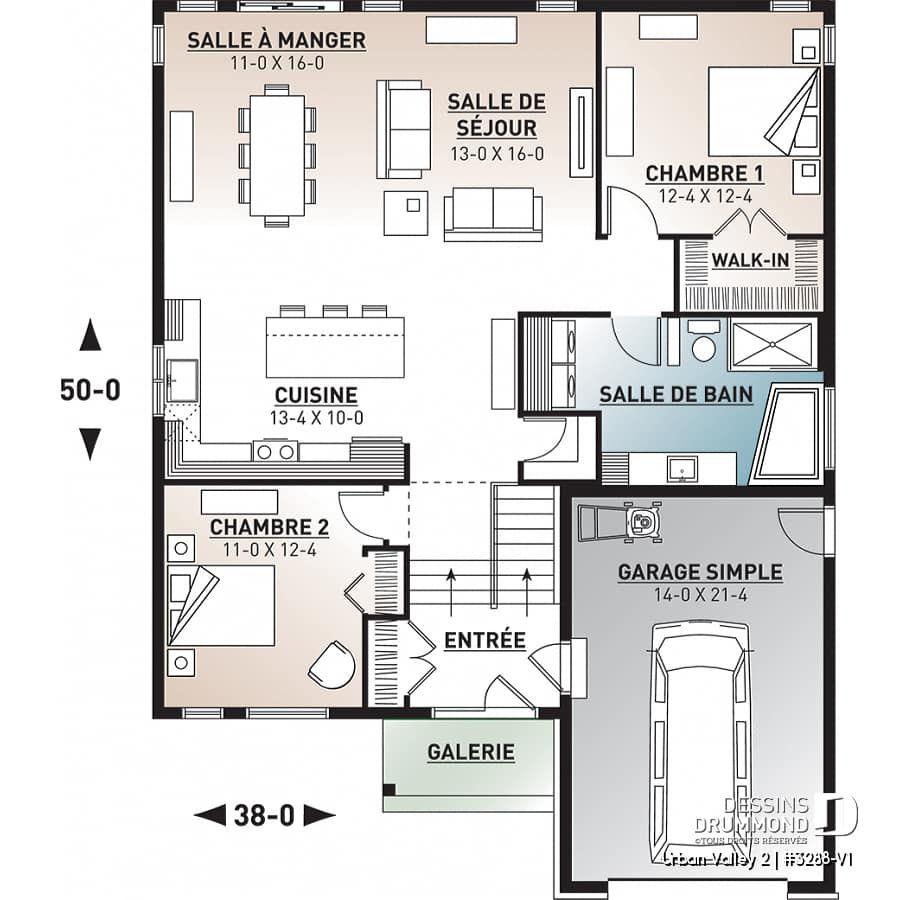 Decouvrez Le Plan 3288 V1 Urban Valley 2 Qui Vous Plaira Pour Ses 2 Chambres Et Son Style Farmhouse House Plans Drummond House Plans House Plan Search